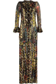 Roberto Cavalli - Floor Length Dress with Silk and Metallic Thread