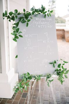 "From the editorial ""This Last Minute Decision Ended Up Being One Bride's Favorite Part Of Her Wedding."" We love their simple 'unplugged' ceremony sign adorned with the prettiest greenery!    Photography: @devondonnahoophoto  #weddingsign #weddingceremonysign #weddingdecor #weddingdiy #unpluggedceremonysign High Tea Wedding, Diy Wedding, Wedding Events, Dream Wedding, Wedding Day, Wedding Bells, Garden Wedding, Weddings, Wedding Ceremony Signs"