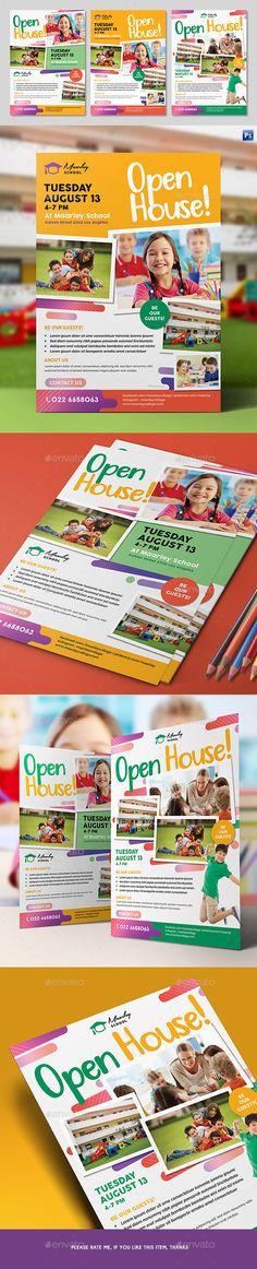 School Open House Flyer Template Open House Flyer Ideas - daycare flyer