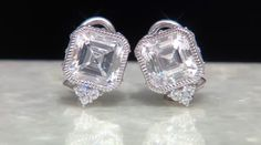 Dominique earrings qvc in silver
