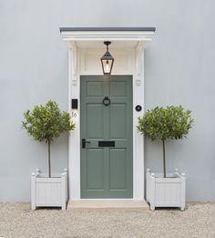 Matt Black Door Furniture Colour In 2019 Black Doors Door Green Front Doors, Black Doors, Front Door Plants, Modern Properties, House Front Door, Front Porch, Porch Lighting, Exterior Lighting, Lighting Ideas