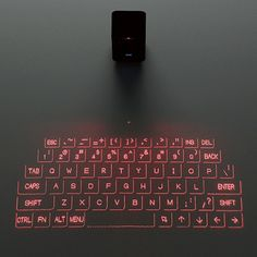 We featured a virtual laser keyboard for computer last year. Now elecom has applied the projection technology on Android and iOS devices. Futuristic Technology, Cool Technology, Technology Gadgets, Technology Design, Energy Technology, Digital Technology, E Learning, Brainstorm, Smartphone