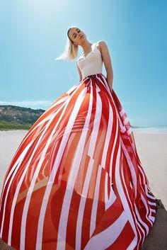 Karolina Mrozkova Wears Optical Prints for ELLE Czech by Branislav Simoncik - Fashion Gone Rogue