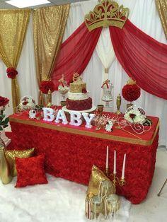 Elegant Royal Rose Baby Shower Party Ideas