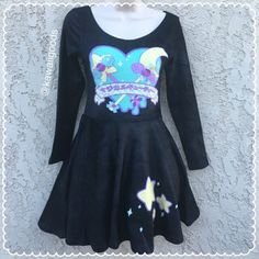 f11e939bdf025 Magical Cutie Velvet Dress (black) from Kawaii Goods