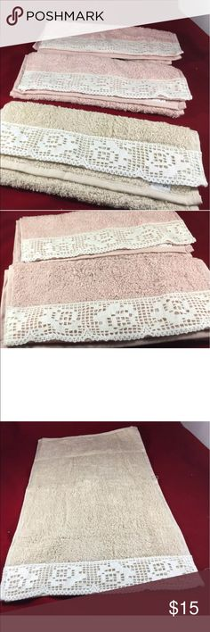 "Turkish  Lace Hand Towel 100%Cotton size as 20X12"" MOTHER DAY GIFT!Turkish  Lace Hand Towel 100%Cotton size as 20X12"" Each $4.00 set of Five $15.00 original prica $30.0 Other"