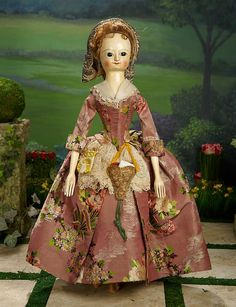 """I Only Wanted to Wonder"" - August 1, 2017: 17 Outstanding 18th Century English Wooden Doll ""Nellie"" in Grand Size, Provenance"