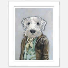 Framed Dog Print Theo now featured on Fab.
