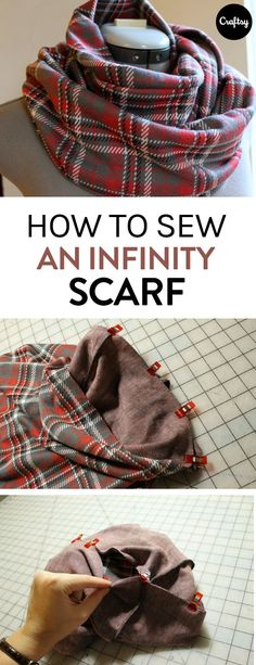 Follow along with this easy photo-tutorial and learn how to sew your own infinity scarf.