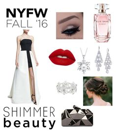 """""""Become The Spotlight"""" by tatagiacinta on Polyvore featuring Halston Heritage, WithChic, M&Co, Carolee, Bling Jewelry, Lime Crime and Elie Saab"""