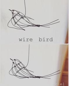#wire #wirework #wireart #wirebird #ornament 立体の鳥です。もう、この作り方は出来ない。一回一回違うから。