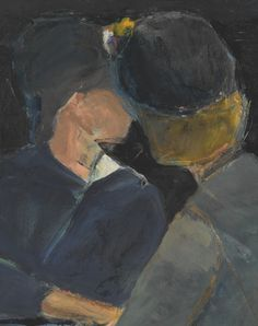 Richard Diebenkorn (American, 1922-1993), Two Women at Table, 1963. Oil on canvas, 36 x 30 in.