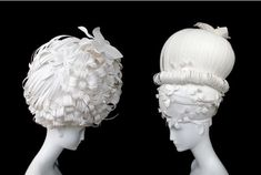 Series of Paper Wigs are created by Amy Flurry and Nikki Salk, two artists based in Atlanta...wow!