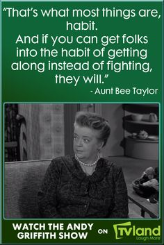 Aunt Bee knows just what advice to give to Andy when he must decide how to help a couples' marriage on the rocks. Hear more Aunt Bee wisdom during The Andy Griffith Show on TV Land!