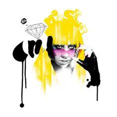 Paul Holland. Fashion illustration. Lady gaga.