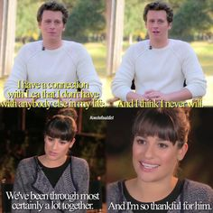 Lea Michele and Jonathan Groff- I know this isn't glee but I really thought this was cute and they were in glee together