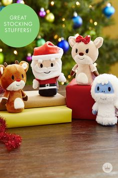 Not only are these Rudolph the Red-Nosed Reindeer® characters seriously cute, but they're doing some serious good this season. Hallmark is donating $1 to Toys for Tots for every Rudolph®, Bumble®, Santa or Clarice® Itty Bitty you buy this season. Cute + Good + Perfect Size for a Stocking Stuffer—it's a powerful combo, yeah?