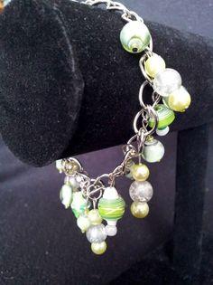 Lime Cascading Charm Bracelet