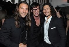 Actors Zach McGowan, Toby Schmitz and Luke Arnold attend the Starz original series premiere after party of 'Black Sails' at Chateau Marmont on January 8, 2014 in Hollywood, California.