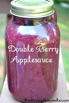 Double Berry Applesauce.
