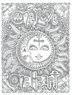 One Love Coloring Pages Poster By Chubby Mermaid