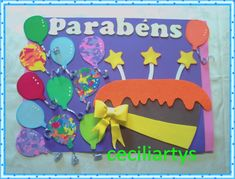 Painel de sala de aula em eva Parabéns
