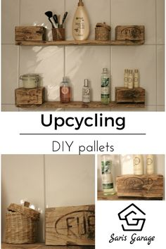 b cherregal aus europaletten upcycling saris garage unsere upcycling projekte diy. Black Bedroom Furniture Sets. Home Design Ideas