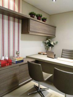 Escritório em casa. Ideia de marcenaria, decoração, design e organização de espaço de trabalho em casa. Home office.