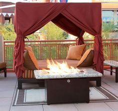 Nap Time! Hand Crafted Canopy Bed. Patio Furniture. Outdoor Living.