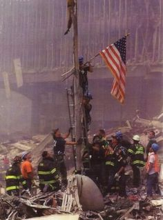 The spirit of American rises immediately even in a crisis. Don't forget Benghazi was another - remember the four who died there today as well. Demand answers on Benghazi We Will Never Forget, Lest We Forget, Always Remember, Don't Forget, Remembering September 11th, September 9, Patriotic Pictures, Military Gifts, Firefighters