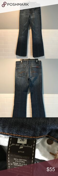 Selling this 7 For All Mankind Bootcut Jeans. 26 on Poshmark! My username is: ajnotrajan. #shopmycloset #poshmark #fashion #shopping #style #forsale #7 For All Mankind #Denim