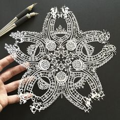 Jeweled #Cherry #Blossum Japanese Artist Hand-Cuts Insanely Detailed #PaperArt