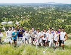 WNMU Students for the 2013 annual Painting the W!