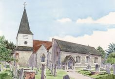 Great Bookham Church Surrey - Church Art by John Lynch