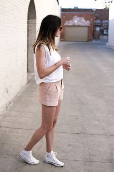forever21 suede shorts converse hightops 3