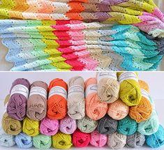 4 Jahreszeiten-Chevron-Decke-Kit von CrochetObjet auf Etsy