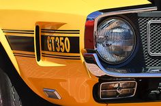 1970 Shelby Gt 350 Fastback Side Emblem by Jill Reger