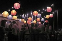 Mix string lights and our nylon lanterns for a fun flair.