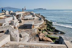 The Wave Organ with Alcatraz in the distance. Image by Kārlis Dambrāns / CC BY 2.0