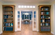 Pocket French doors - would love these between my office and the remainder of the house. or separating the dining area from the living area.
