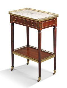 Furniture, Wood, Tea Table Furniture, Miniature Crafts, Mahogany Table, Home Libraries, Table, Tea Table, Louis Xvi
