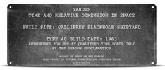 Doctor Who Tardis Plate Tin Sign