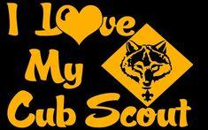 I Love My Cub Scout Vinyl Decal Sticker BSA Boy Scouts Cub Scout Mom   LilBitOLove - Housewares on ArtFire