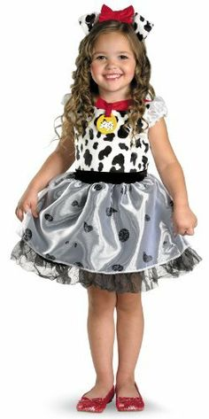 Disguise Costumes Disney 101 Dalmatians Classic Costume Disguise. $18.39. Child Sizes: 2T-6X. Hand Wash. 100% polyester. Official Disney Licensed Costume. Dress and headband with ears