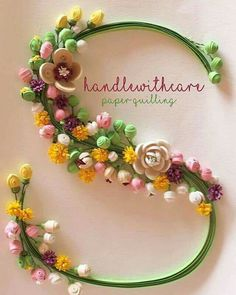 Quilling Letters, Paper Quilling Cards, Quilling Work, Paper Quilling Patterns, Quilled Paper Art, Quilling Paper Craft, Paper Crafts Origami, Hobbies And Crafts, Diy And Crafts