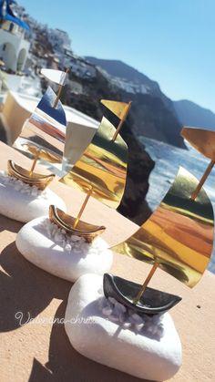 Μεταλλικό καραβάκι με βάση από βότσαλο Θάσου,χειροποίητες ελληνικές δημιουργίες από ορείχαλκο by valentina-christina handmade products wedding favors santorini! #gamos#wedding#greek#weddingsantorini#santorini#caldera#instagreece#vaptisi#vaftisi#asterias#valentinachristina#wedding_santorini Greece Wedding, Santorini, Chloe, Handmade, Bags, Fashion, Handbags, Moda, Fashion Styles