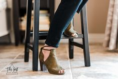 Stitch Fix | Set-Me-Free Lace-Up Peep Toe Booties