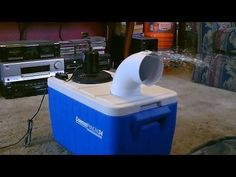 A DIY air conditioner is easy to make with an ice chest, PVC pipe, ice and a little fan. http://www.geekwire.com/2015/this-diy-hack-for-an-air-conditioner-has-nearly-3m-views-on-youtube/