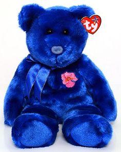 Ty Beanie Baby Buddy - Vanda Miss Joaquim the bear from Asia Flower bear collection Cute Teddy Bear Pics, Teddy Bear Cartoon, Teddy Bear Pictures, Beanie Baby Bears, Ty Beanie Boos, Ty Stuffed Animals, Plush Animals, Beanie Babies Value, Ty Bears