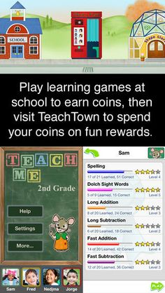 TEACH ME apps are great!  Children earn coins by playing learning games.  Writing recognition, achievement screen, and more.